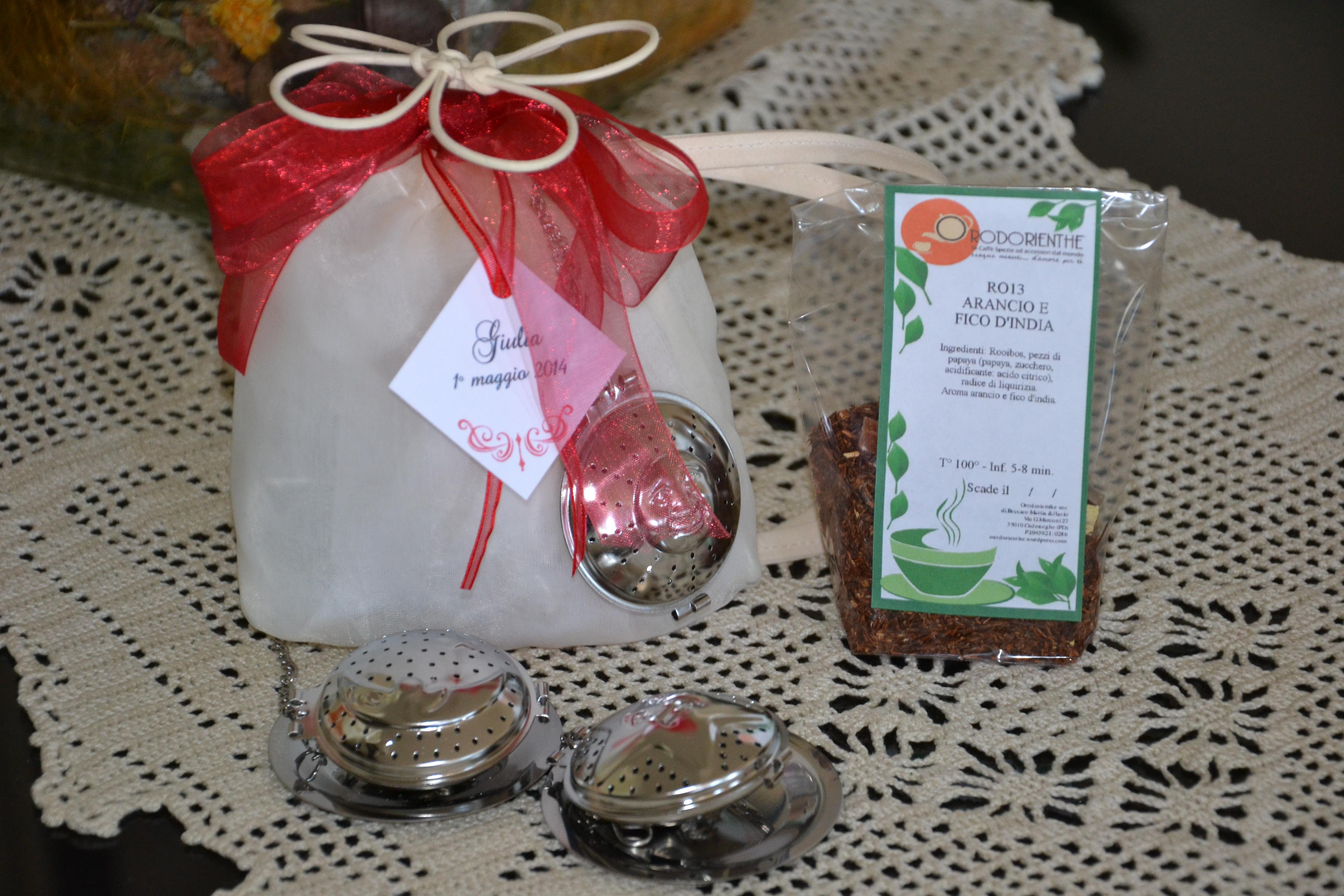 bomboniera con filtro e tè